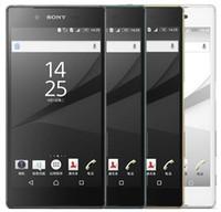 androids de gsm desbloqueados venda por atacado-Original sony xperia z5 e6653 desbloqueado 3 GB de RAM 32 GB ROM GSM WCDMA 4G LTE Do Telefone Móvel Android Octa Núcleo 5.2 Polegada 23MP Câmera remodelado