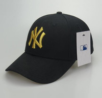 Wholesale 3d embroidery hats - 2018 New NY Baseball Caps Hiphop Men Women Adjustable Hats 3D embroidery MLB New York Yankees Snapback Cap Headware