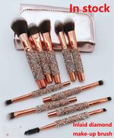 Wholesale metal eyeshadow for sale - Group buy 2018 New Makeup Brush set Professional brushes Powder Foundation Blush Makeup Brushes Eyeshadow brush Honey powder make up brush Kit
