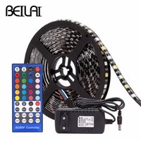 tira de led flexible negro al por mayor-Tira LED RGB impermeable DC12V 5050 PCB negro WIFI RGBWW RGBW Tiras de luz LED Cinta de neón flexible Control remoto de Navidad