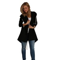 Wholesale Open Sweater For Women - Fashion Autumn And Winter Jackets For Women Causal Cardigan With Hooded Coats Loose Long Sweater