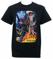 moda do amanhecer venda por atacado-Camisas feitas sob encomenda Dos Homens Curtos Autêntico EVIL MORTO 2 Dead By Dawn Thai Movie Poster T-Shirt Tamanho: S-3XL NOVO O-pescoço Moda 2018 Tees