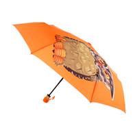 зонт оригинал оптовых-Складной Легкий Оригинальный Сова Животных Печатный Автоматический Зонт Женщины Ветрозащитный Защита от Солнца Ясно Дети Зонтик Дождь Женщины