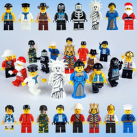 Wholesale top toy figures - 48 pcs top selling Super hero Building Blocks plastic figures Baby Brick toy Kids Gift from shenzhen free shipping