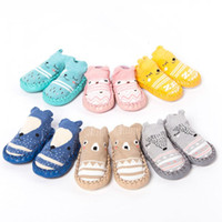 Wholesale bell shoes - Newest Baby Shoes Newborn Infantil Baby Girls Boys Cartoon Anti-Slip Socks Slipper Bell Shoes Boots Moccasins First Walkers