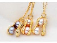 ingrosso catena di arachidi-Collana con ciondolo in argento con ciondolo Collana con ciondolo in argento con ciondolo in cristallo