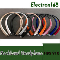 Wholesale best wireless neckband headphones for sale - Group buy HBS Headset Earphone Sports Wireless Bluetooth Headphone Best Quality For iphone plus s8 edge hbs910