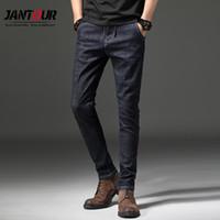 d0f4025a51c jantour Brand Men Stretch Denim Slim Jeans Black Blue Fashion Autumn Winter Trendy  Trousers Pants Size 27 - 38 For Men s Jean