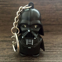 Wholesale keyring bulbs - LED Darth Vader key Ring Keyrings Key Chains Sport Mini led flashlights keychain key ring