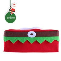 Wholesale christmas elf ornaments - Xmas Removable Tissue Box Elf Clothes Cover Box Christmas Decorations For Home 2017 Santa Claus Party Ornaments adornos navidad