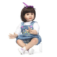 Wholesale Fashion House Clothes - Rebom toddler girl Emualation Little Girl Doll Clothing Model Popsie Play House Orginality Flexible Slap-up Soft Silica gel Toys