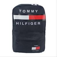 Wholesale Wholesale China Backpack - Tommy men business computer backpack mens brand Hilfiger letter unisex unisex shoulder bags travel students bag for laptop Tablet PC 2018