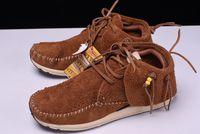 Wholesale Folk Shoes - 2017 AAA Quality Visvim FBT Lhamo Folk Black 9.5 FREE SHIP grizzly shaman sashiko virgilBrown Suede leather Camel M224001255 shoes With box