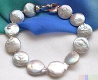 Wholesale pearl coin bracelets for sale - Group buy gt gt gt gray coin freshwater pearl bracelet