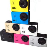 caméra vidéo résistant à l'eau hd achat en gros de-SJ4000 1080 P Casque Sport Mini Record DVR DV Vidéo HD DV Action Soutien SD / TF Carte Étanche Sous-Marine 30 M Caméra Caméscope Multicolore