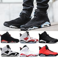 Wholesale Women Shoes 41 - 2018 Mens 6 6s Basketball Shoes UNC 3M black cat Infrared White Carmine Maroon Oreo high quality Men sport Sneakers eur 41-47
