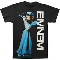micrófono al por mayor-Camiseta de verano de los hombres de la moda Eminem Hombres en la camiseta del Mic camiseta de la personalidad de los hombres camiseta de los hombres camiseta de tamaño suelto