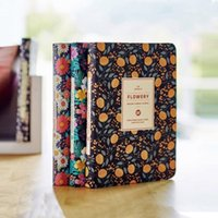 Wholesale diary book flower - New Arrival Cute PU Leather Floral Flower Schedule Book Diary Weekly Planner NotSchool Office Supplies Kawaii WJ-BJB-50-