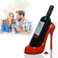 Wholesale High Heel Bottle - High Heel Shoe Wine Bottle Holder Shoes Design Silicone Wine Bottle Holder Rack Shelf for Home Party Restaurant Free DHL XL-435