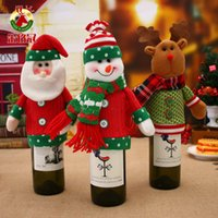 weinflaschen-säcke großhandel-Santa Sacks Weinflasche Abdeckung Taschen Weihnachtsdekoration Abstand Flasche Abdeckung Weihnachten Dekorationen für Zuhause
