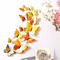 ingrosso decorazione domestica degli adesivi della parete della camera da letto-12 pezzi diy 3d farfalla adesivi murali decorazioni per la casa per soggiorno, camera da letto, cucina, servizi igienici, decorazione di nozze festa