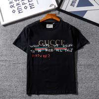 markalı çift gömlek toptan satış-Erkek Tasarımcı T Shirt Moda Casual Marka T Shirt Yaz Erkek Kadın Çift Tasarımcı En Tees Kısa Kollu Kazak Boyutu S-XXL