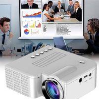 ingrosso proiettori di qualità-Il la cosa migliore 2019 mini proiettore portatile UC28B 500LM Home Theater Cinema Multimedia LED Video proiettore supporto USB TF Card di buona qualità
