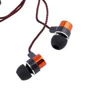 auriculares mega bajos al por mayor-Mega Bass Stereo Music In-ear auriculares con bajo pesado auriculares con micrófono trenzado auriculares universales estéreo auriculares de música deportiva