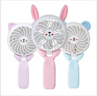 Wholesale foldable bars - USB Power Foldable Hand Fans Rechargeable Handheld Mini Fan Electric Home Office Outdoor Fans Hand Bar Desktop Fan Cooler KKA5139