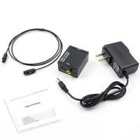 ingrosso convertitore audio toslink rca-Convertitore da digitale ad analogico Adattatore digitale Ottico coassiale RCA Toslink Signal to Analog Audio Converter RCA