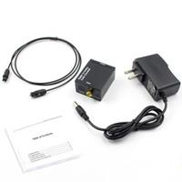 ses çevirici toslink rca toptan satış-Dijital Analog Ses Dönüştürücü Dijital Adaptör Optik Koaksiyel RCA Toslink Sinyal Analog Ses Dönüştürücü RCA