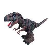 filmes educativos venda por atacado-Tiranossauro Rex Luz Elétrica Música Dinossauro Andando Brinquedos Educativos Bateria Operado Eletrônico Filme Tv Ready-to-go