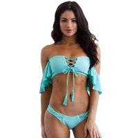 4dbbed9ab1 Bandeau String Bikini Set Swimwear Women Swimsuit 2018 Swim Bathing Suit  Bather Push Up Female Brazilian Tanga Beach Wear Pink