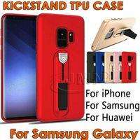 Wholesale hid blue - Hidden Kickstand TPU Phone Case For Samsung Galaxy Note9 Note 9 S9 S8 Plus Note8 S7edge A8 PLUS 2018 J4 J6 J8 2018 huawei p20 pro lite case