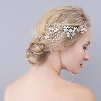 Wholesale modern hair accessories - A Stunning Modern Wedding Hair Combs Delicate Rhinestone Crystal Flexible And Bendable Silver Bridal Headpieces Handmade Bridal Accessories