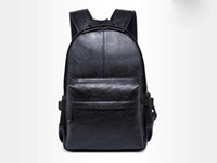 Wholesale Vintage Satchel Bags For Men - Leather School Backpack Bag For College Simple Design Men Casual Daypacks