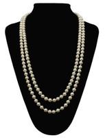 ingrosso lunghe perle faux-Catenina da donna con grandi perle Gatsby Faux Pearls Cluster Lunghe anni '20 Collana 59 ''