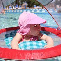 Wholesale boys swim hat - 2018 New Children Soild Sun Hat Summer Swim Hat Baby Toddler Flap Sun Protection Breathable mesh cloth Quick Drying sun hat BH125