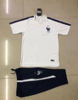 Wholesale Clubbing Pants Men - 3A+Club 2018 Real Madrid Short Sleeve Training Suit 3 4 Pants kit RONALDO 17 18 Chandal Uniforms Maillot de foot Survetement Football shirts