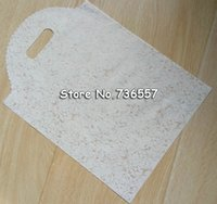 Wholesale plastic bags handles free shipping for sale - Group buy Free Ship lace plastic shopping bag Large handle Plastic gift bag Boutique Gift Packaging Shopping