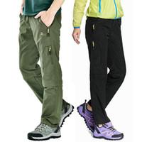2e11af787e3e Nylon Breathable Removable Waterproof Hiking Pants Women Men Quick Dry  Trousers Outdoor Trekking Climbing Pants Shorts