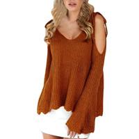 ingrosso spalla del rivestimento del rivestimento-Cardigan 2018 maglione manica lunga donna spalla lunga cardigan lungo cappotto maglione cardigan in cotone donne maglioni pullover cardigan