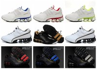 Wholesale Rubber Bounce Shoes - 2018 PORSCHE DESIGN RUN Bounce 4 S4 Mesh Leather Running Shoes for Men White Blue Bred Black Breathable Sports Sneakers Size Eur 40-45