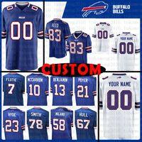 royals jerseys 2018 - Custom Buffalo Bills Jersey 21 Line Royal 78 Bruce Smith 23 Micah Hyde 7 Doug Flutie 13 Kelvin Benjamin 10 AJ McCarron 83 Andre Reed 67 Hull