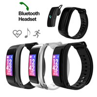 Wholesale russian used cars - Heart Rate Monitor Wristband Talk Band Smart Bracelet with Bluetooth Earphone Sports Fitness Tracker Pedometer Car Handsfree Call Headset