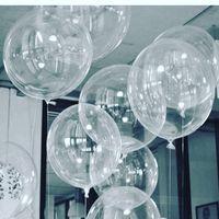 balon düğün dekorasyonu toptan satış-50 adet Hiçbir Winkles Şeffaf PVC Balonlar 10/18/24 inç Temizle Kabarcık Helyum Globos Düğün Doğum Günü Partisi Dekoru Helyum Balaos Çocuk Oyuncakları Topu