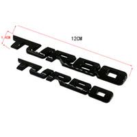etiqueta engomada de la insignia de turbo al por mayor-3D Car Styling del metal de la TURBO Emblema del cuerpo posterior de la divisa de la puerta posterior turbo etiqueta del coche universal de la motocicleta Auto Chrome
