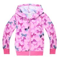 Wholesale boys zip hoodies - 5 PCS lot JOJO SIWA Girls Girl Spring Autumn Long Sleeve Zip Up Hoodie Jacket kids Kid Childrens Zipper Hooded Coat