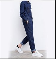 erkekler moda kot toptan satış-Japon ve Kore moda pantolon Erkek kot tulumlar Kişilik Uzun kollu tulumlar tulumlar Erkek giyim