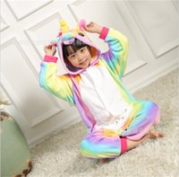 Wholesale conjoined cartoons resale online - Flannel Stars Unicorn Shape Home Clothes Children Cosplay Banana Fruits Perform Heavenly Horse Cartoon Animal Pajamas Conjoined ml jj